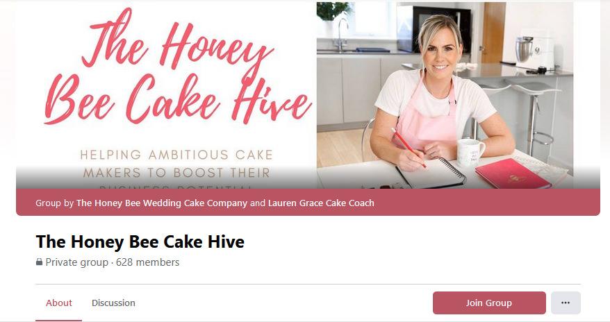 The HoneyBee Cake Hive Facebook Group held by Lauren Grace Consulting | Lauren Grace Cake Coach UK